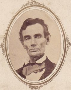 Abe Lincoln 1858 Macomb, IL Pearson, T. Painter, photographer
