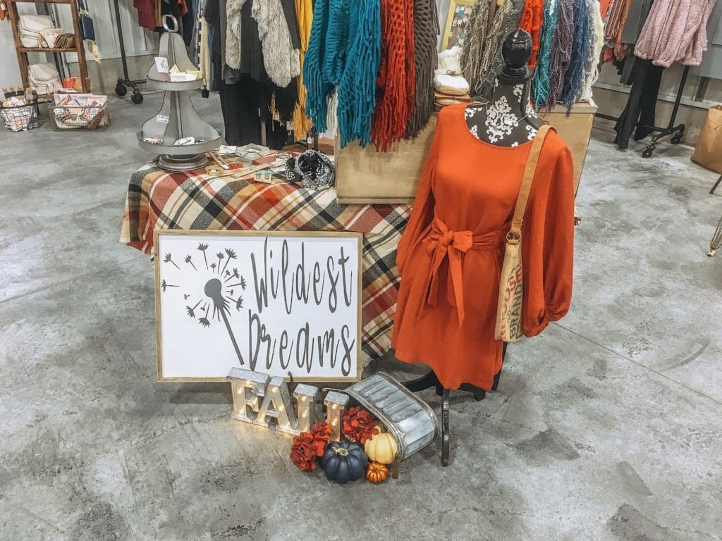 Wildest Dreams Boutique clothing & sign