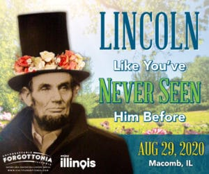 Living Lincoln Topiary Monument Unveiling Flyer