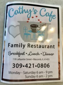 Cathy's Cafe menu 1
