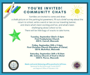 Community Chats flyer