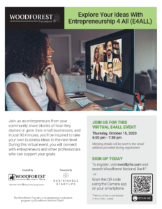Woodforest Virtual Event Flyer