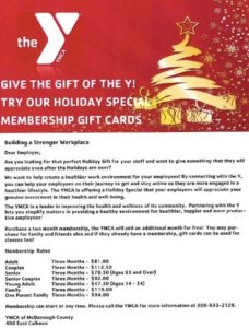 YMCA Gift Card Flyer