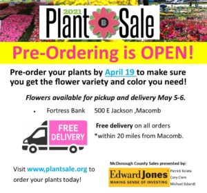 Big Brother Big Sister Plant Sale flyer