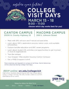 Spoon River College March Visit Days 2021